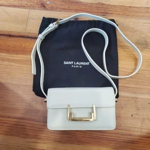 Saint Laurent White Leather Shoulder Clutch/Bag